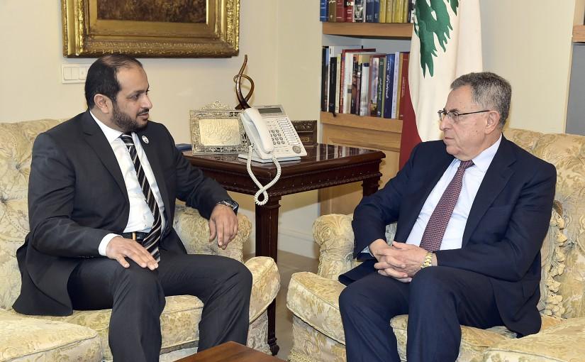 Former Pr Minister Fouad Siniora meets Emirates Ambassador