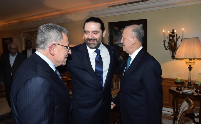 Pr Minister Saad Hariri meets Former Pr Minister Fouad Siniora & Former Minister Ashraf Rifi