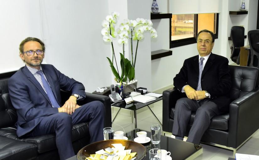 Minister Mansour Bteich meets Poland Ambassador