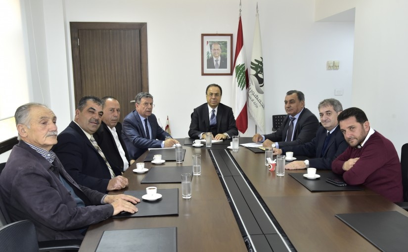Minister Mansour Bteich meets a Delegation from Lebanese Farmers