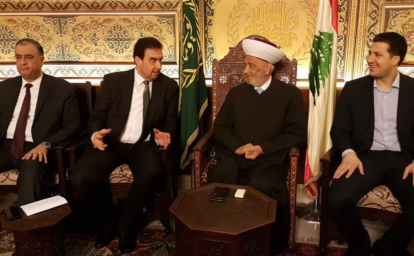 Grand Mufti Abdel Latif Derian Meets a Delegation From Akkar MPs