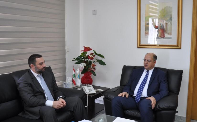 Minister Hassan Lakis Meets MP Ibrahim Azar