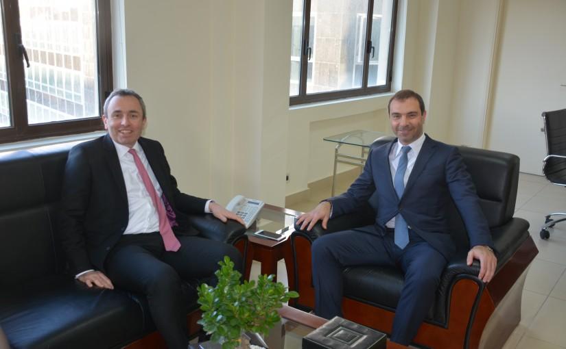 Minister Adel Afyouni meets British Ambassador