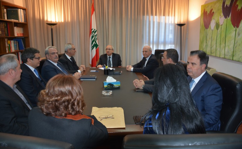 Minister Albert Serhan meets a Delegation from Lebanese Judges