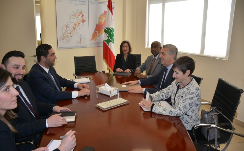 Minister Saleh el Gharib meets Mr Philippo Grandi