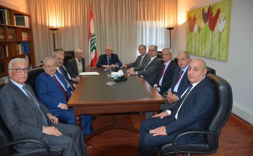 Minister Albert  Serhan meets Mr Nicola Gholam with a delegation.