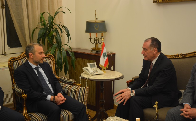 Minister Gebran Bassil meets a Russian Delegation