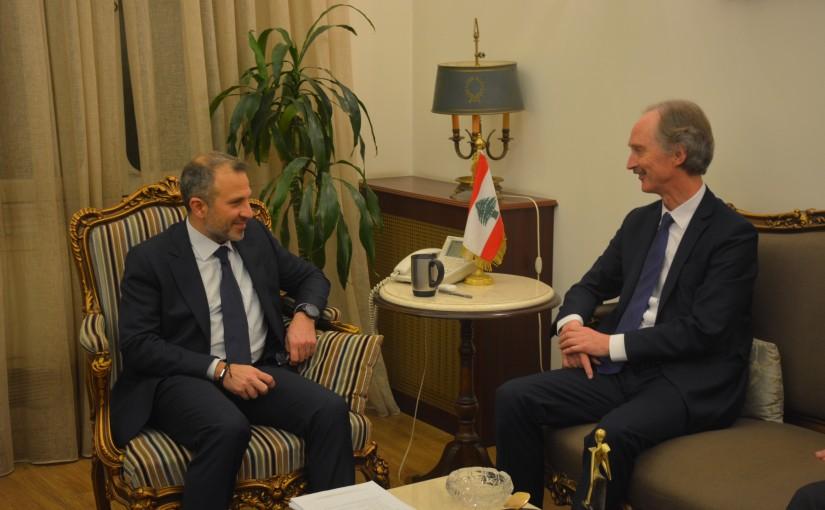 Minister Gebran Bassil meets Mr Gear Peterson
