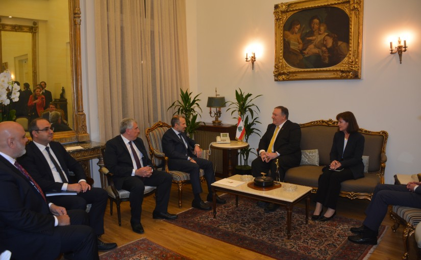 Minister Gebran Bassil meets US Ministry of Foreign Affairs