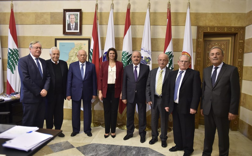 Minister Raya el Hasan meets Mr Mouhamad Mrad with a Delegation