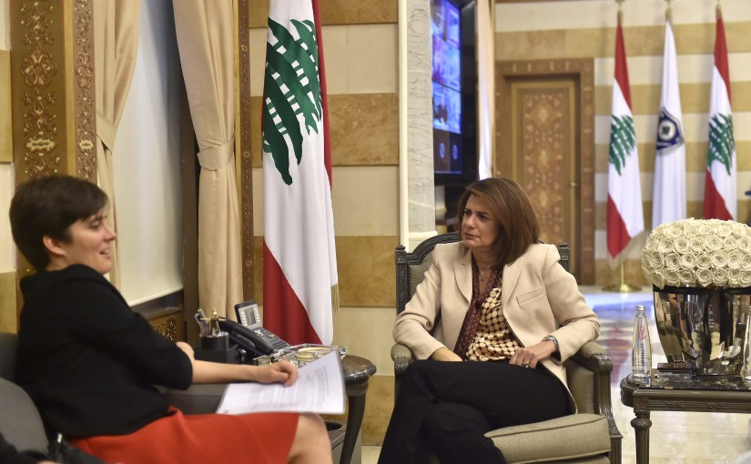 Minister Raya el hassan meets Canadian Ambassador