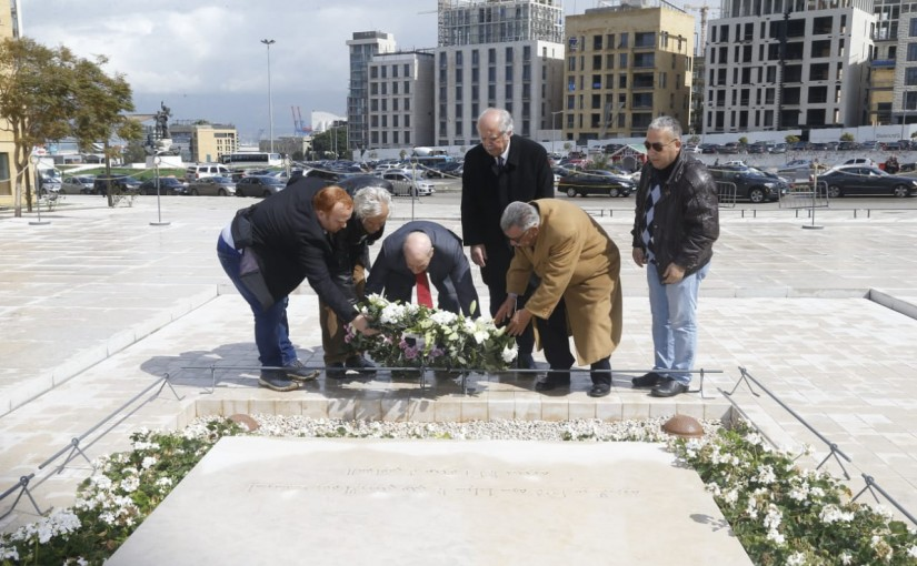 A Delegation from Palestinian Party Visits the Grave of the Late Pr Minister Rafic Hariri