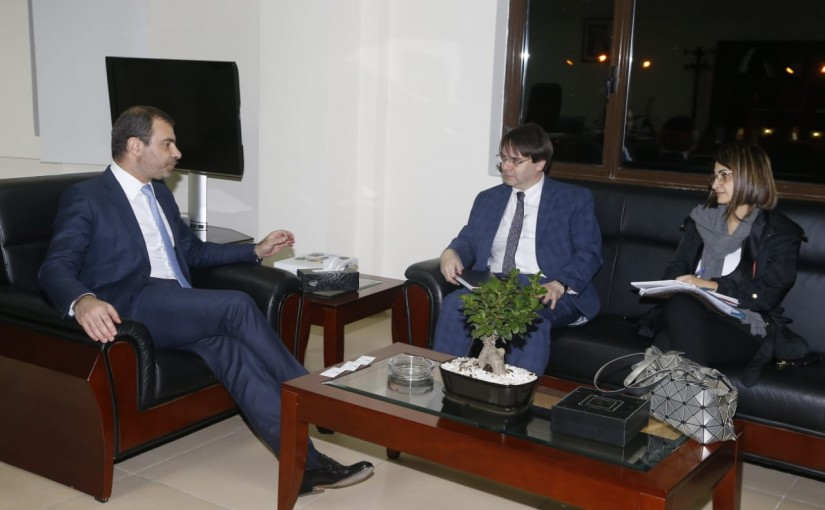 Minister Adel Afyouni meets Mr Ghris Garfed