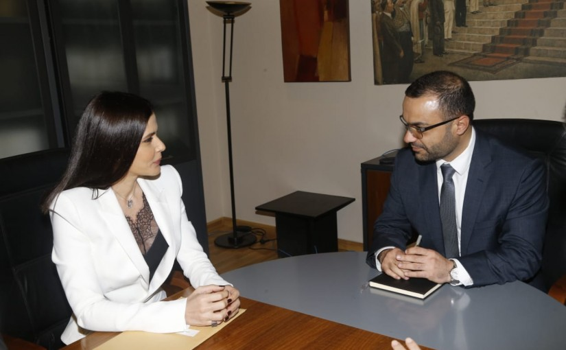 Minister Mouhamad Daoud Daoud meets MP Sitrida Geagea