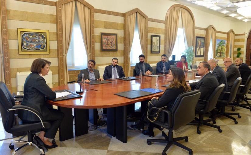 Minister Raya el hassan meets Mr Ahmad Kheiwith a Delegation