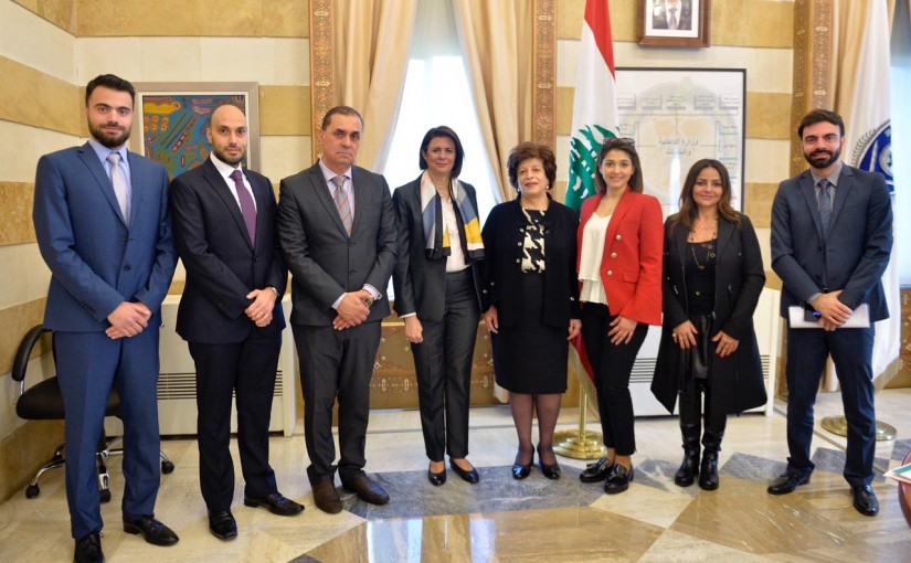 Minister Raya el hassan meets a Delegation of Road for Life