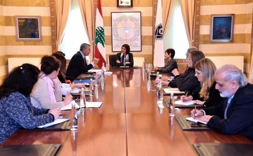 Minister Raya el hassan meets Mr Philippe Larizini