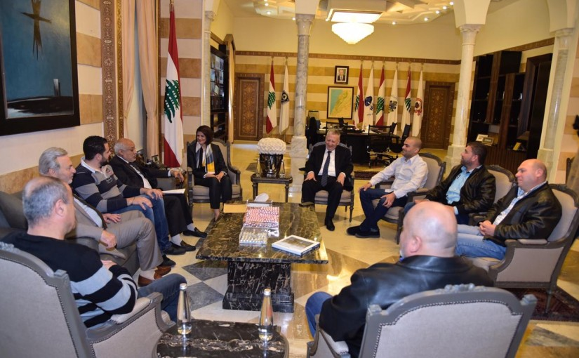 Minister Raya el hassan meets Mr Rouad Selim with a Delegation
