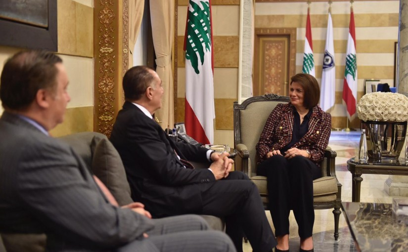 Minister Raya el hassan meets a Delegation from Task Force