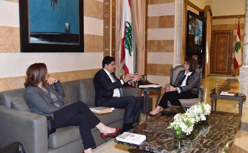 Minister Raya el hassan meets a Delegation From UN Habitat