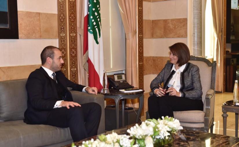 Minister Raya el hassan meets Former MP Ziad el Kadri