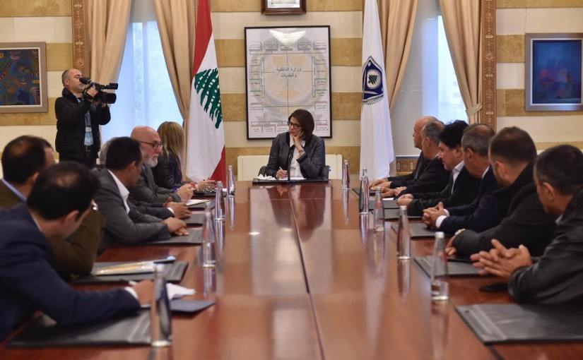 Minister Raya el hassan meets a Delegation from Truck Drivers