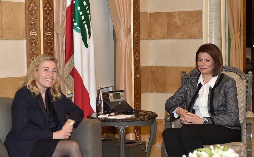 Minister Raya el hassan meets Norway Ambassador