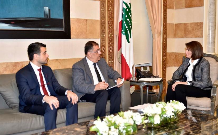 Minister Raya el hassan meets  Dr Raymonf Sayegh