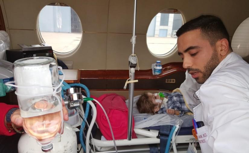 Arriving of the Newborn Child Ahmed Othman at Rafic Hariri Beirut Airport
