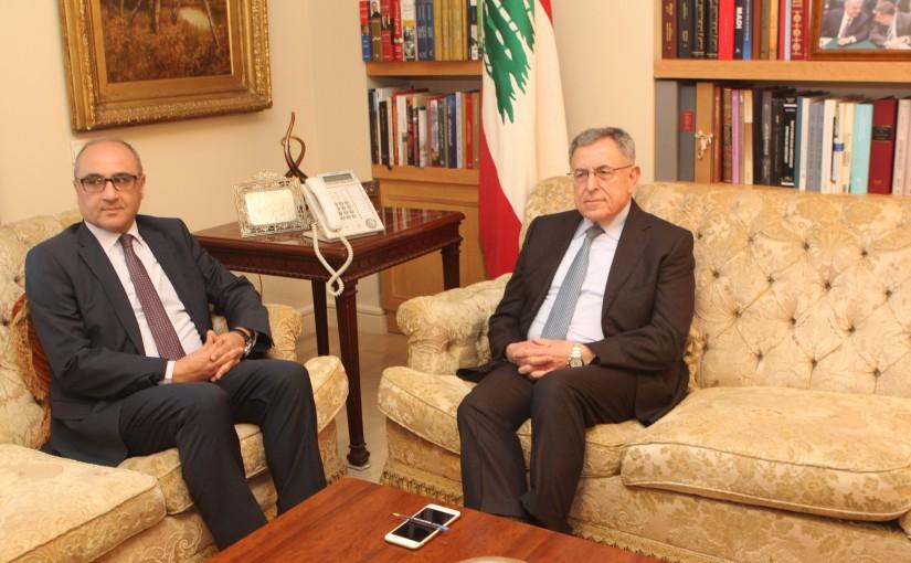 Former Pr Minister Fouad Siniora meets Tunisian Ambassador