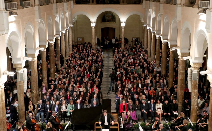 UNDER THE HIGH PATRONAGE THE FIRST LADY MRS. NADIA AOUN ATTENDS THE OCCASION OF INTERNATIONAL WOMEN'S DAY. ''WOMEN COMPOSER