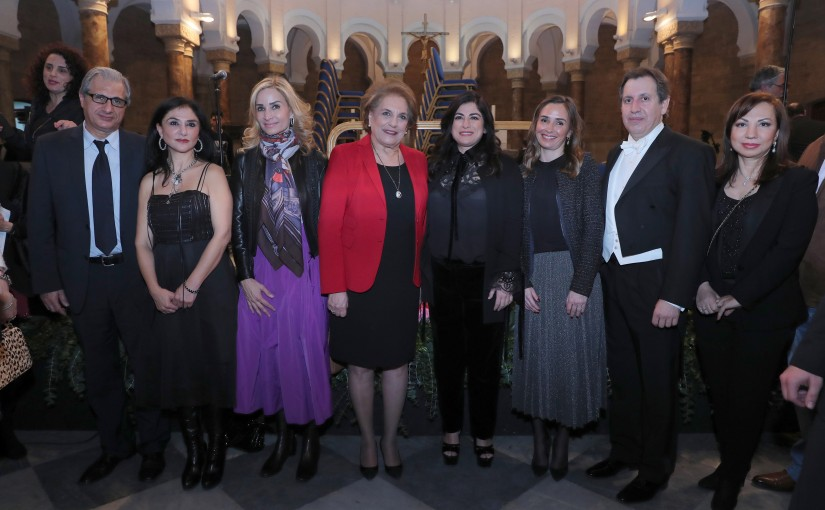 "UNDER THE HIGH PATRONAGE THE FIRST LADY MRS. NADIA AOUN ATTENDS THE OCCASION OF INTERNATIONAL WOMEN'S ""DAY. ''WOMEN COMPOSER""."
