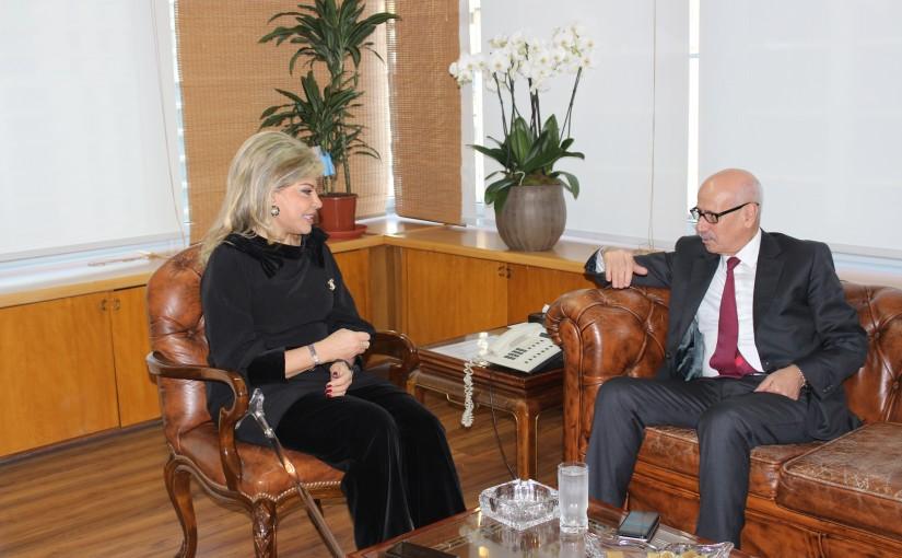 Minister May Chidiac meets Maroc Ambassador