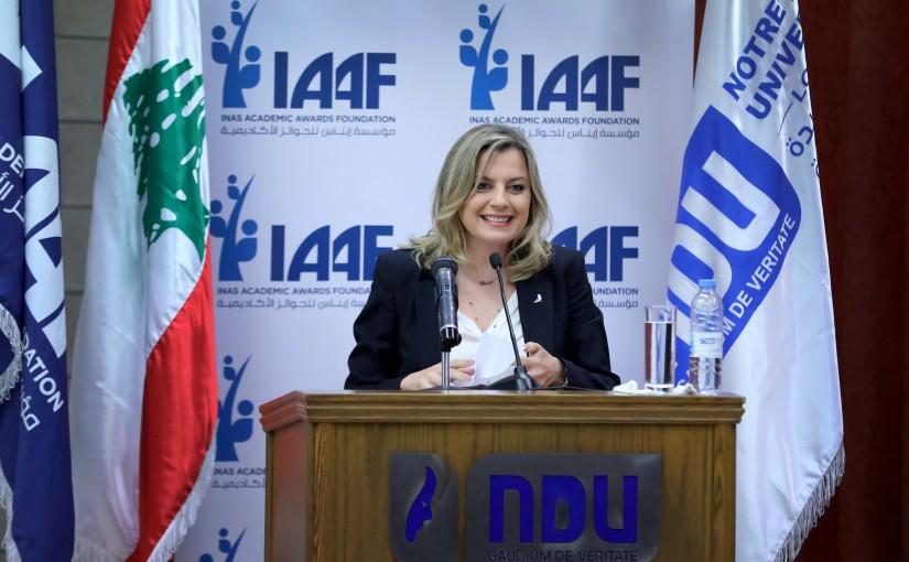 """Mrs. Claudine Aoun Roukoz attends """"DARE TO DREAM"""" IAAF AWARDS."""