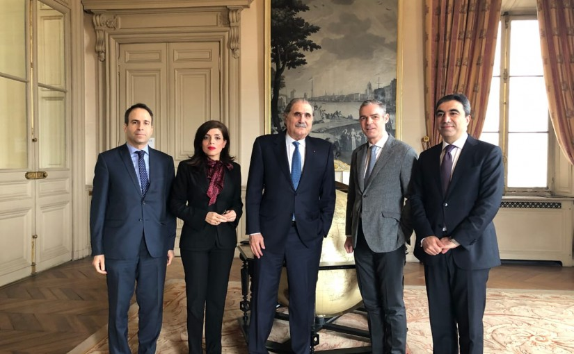 Minister Salim Griissati presided over the Lebanese delegation to Paris with the Director of the Middle East and North Africa at the French Ministry of Foreign Affairs, Jérôme Bonnafont