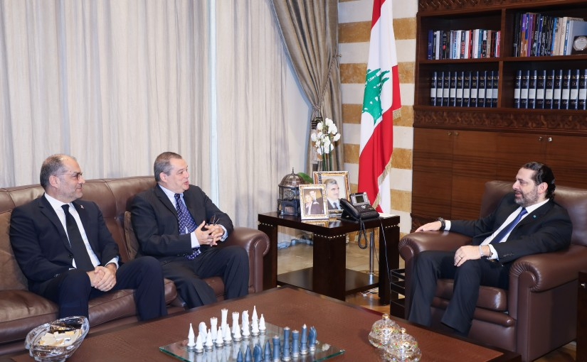 Pr Minister Saad Hariri meets Mr Carlos Voktener