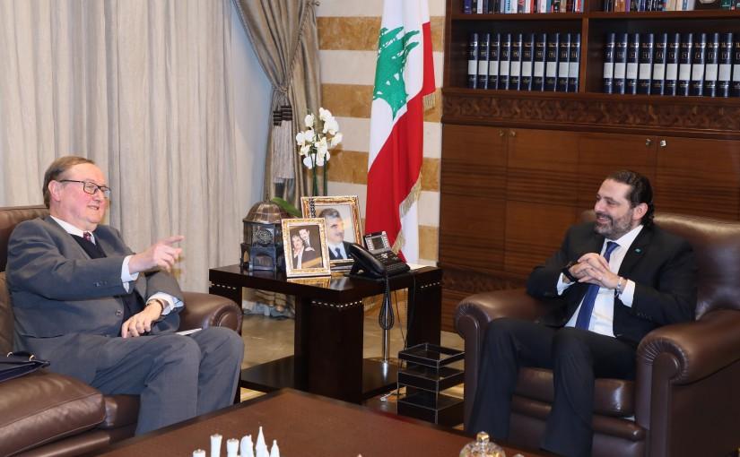 Pr Minister Saad Hariri meets Mr Pierre Daquan