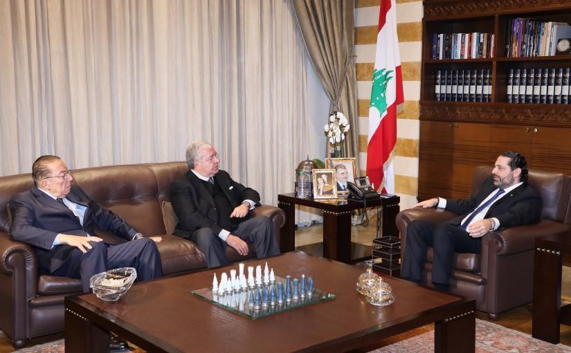 Pr Minister Saad Hariri meets Former Minister Nouhad Machnouk