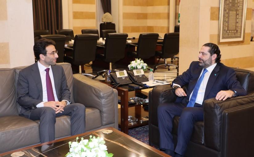 Pr Minister Saad Hariri meets Mr Ziad Chebib