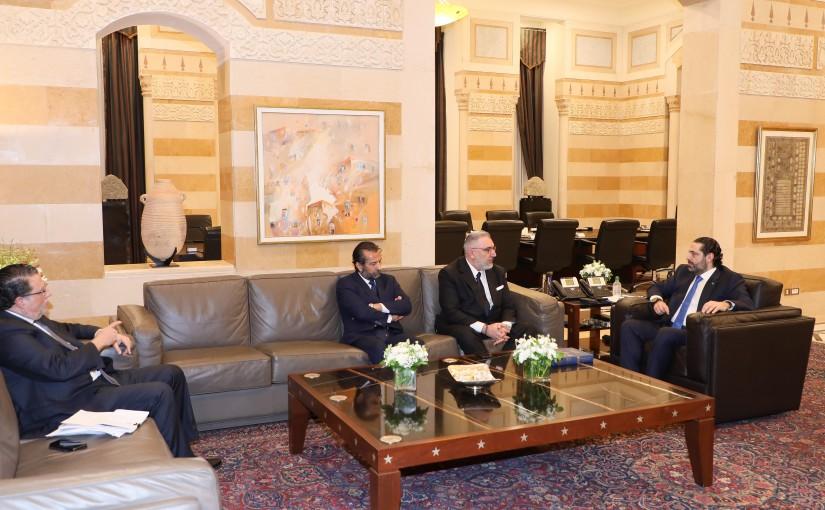 Pr Minister Saad Hariri meets Minister Mouhamad Choukair