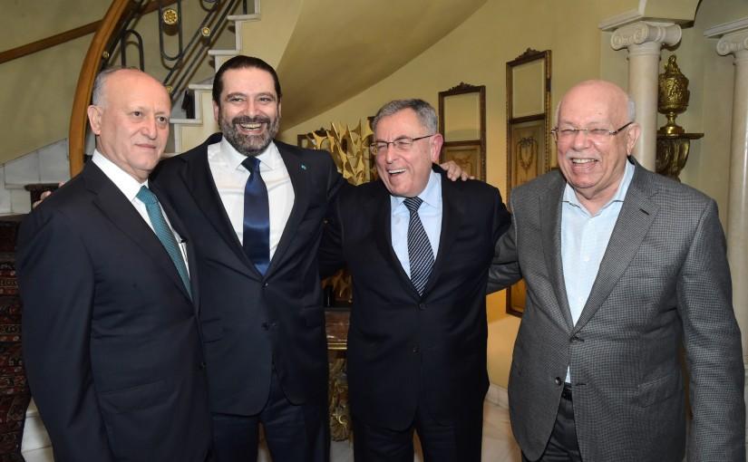 Pr Minister Saad Hariri meets Former Minister Fouad Siniora & Former Minister Ashraf Rifi