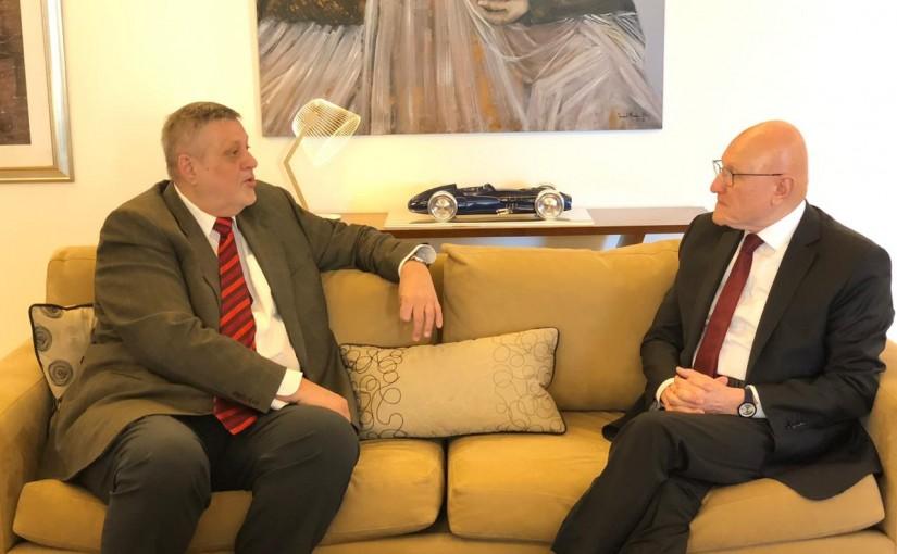 Former Pr Minister Tammam Salam meets Mr Jean Kubis