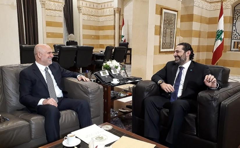 Pr Minister Saad Hariri meets Minister Youssef Phenianos