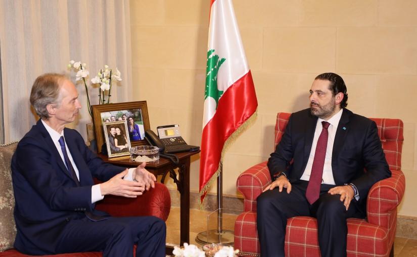 Pr Minister Saad Hariri meets Mr Gear Peterson