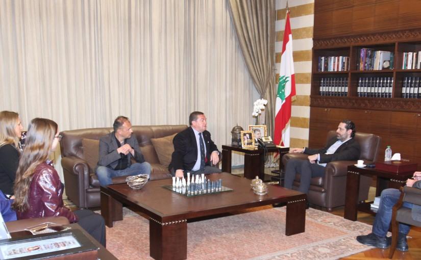 Pr Minister Saad Hariri meets a Delegation from Val D Isere