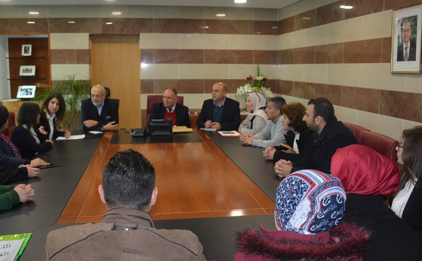 Minister Akram Chehayeb meets a Delegation from Lebanese Teachers