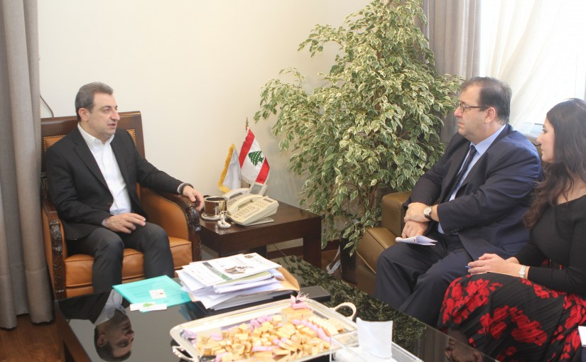 Minister wael abou Faour meets French Ambassador