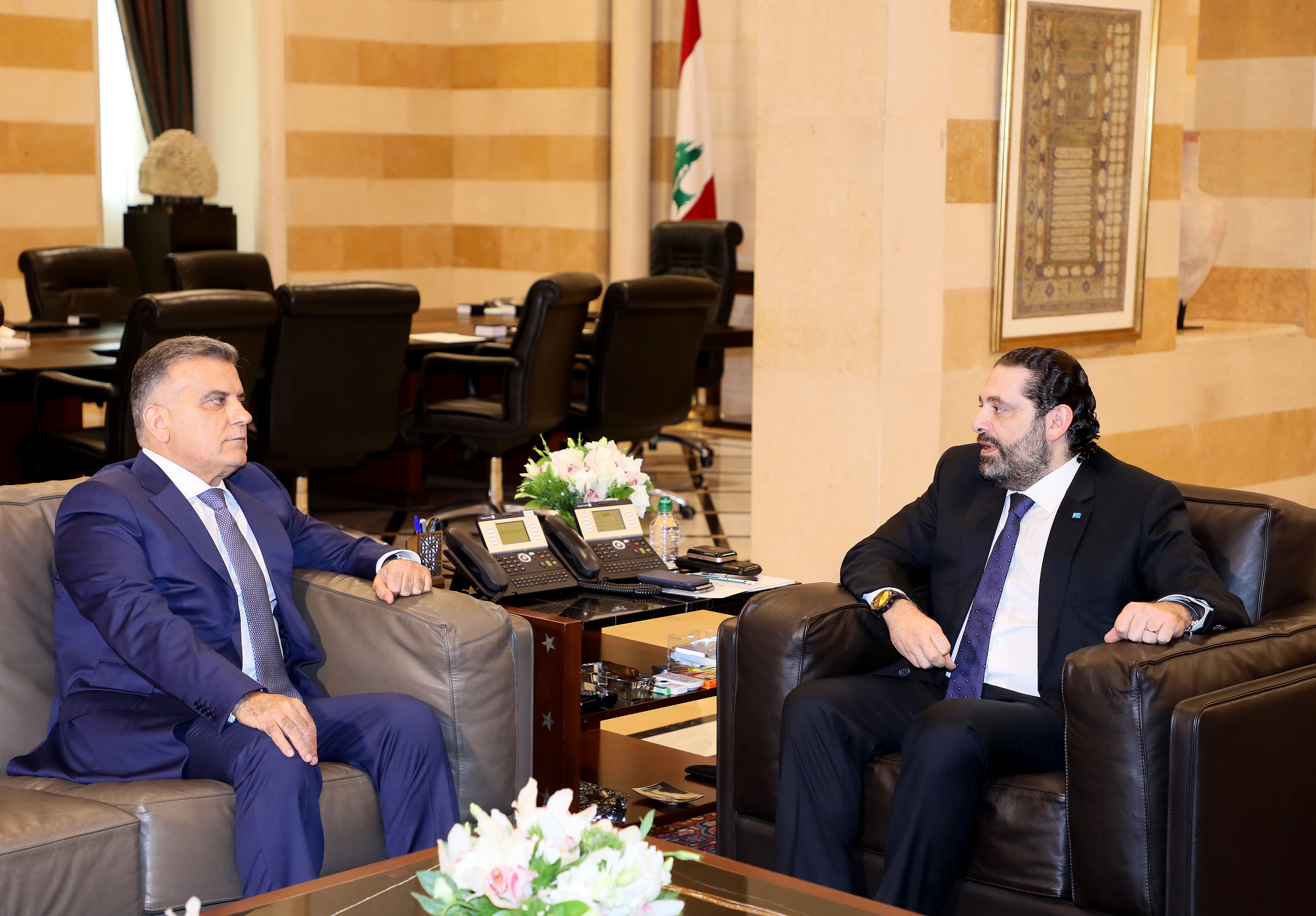 Pr Minister Saad Hariri meets General Abbas Ibrahim