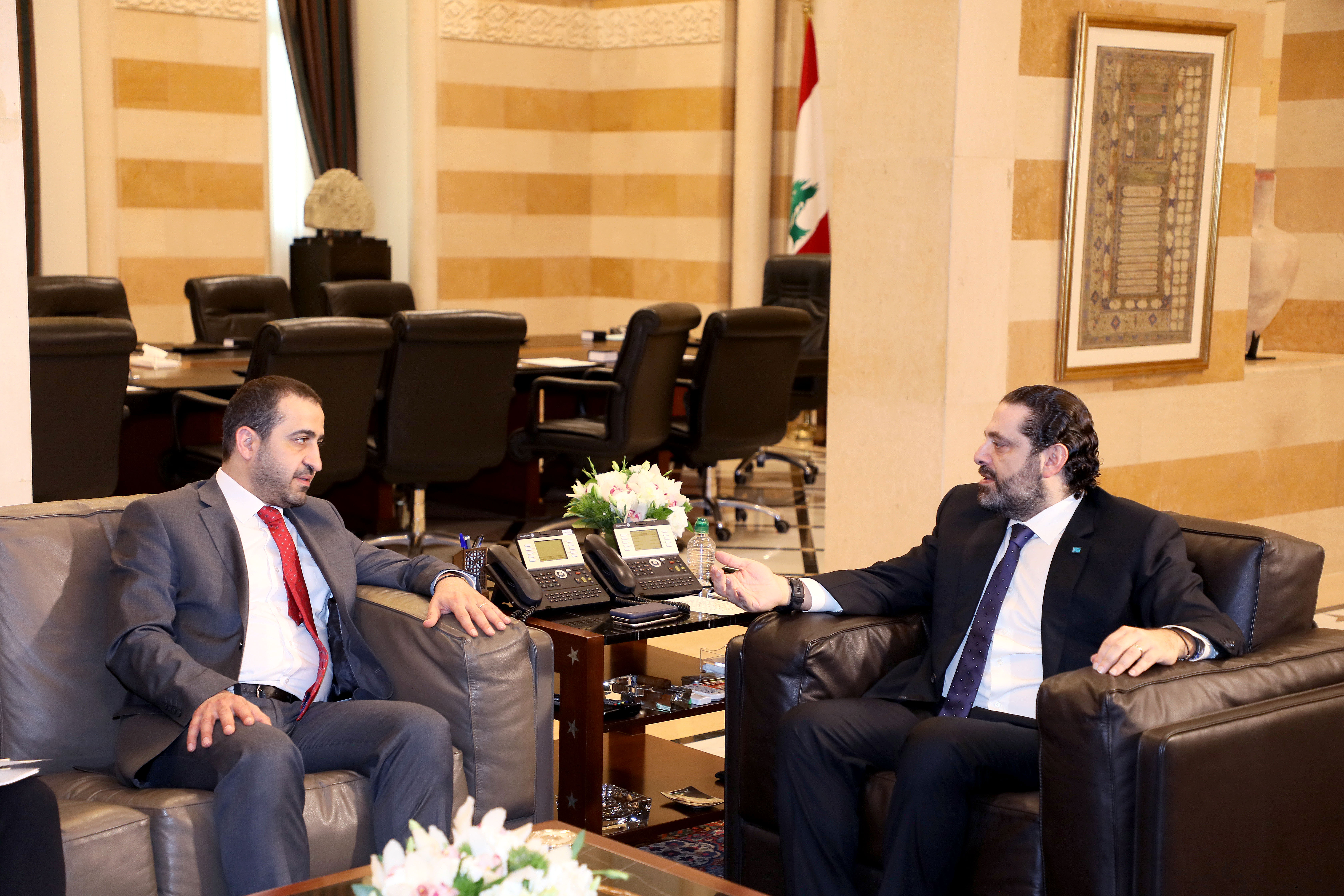 Pr Minister Saad Hariri meets Minister Ghassan Attalah