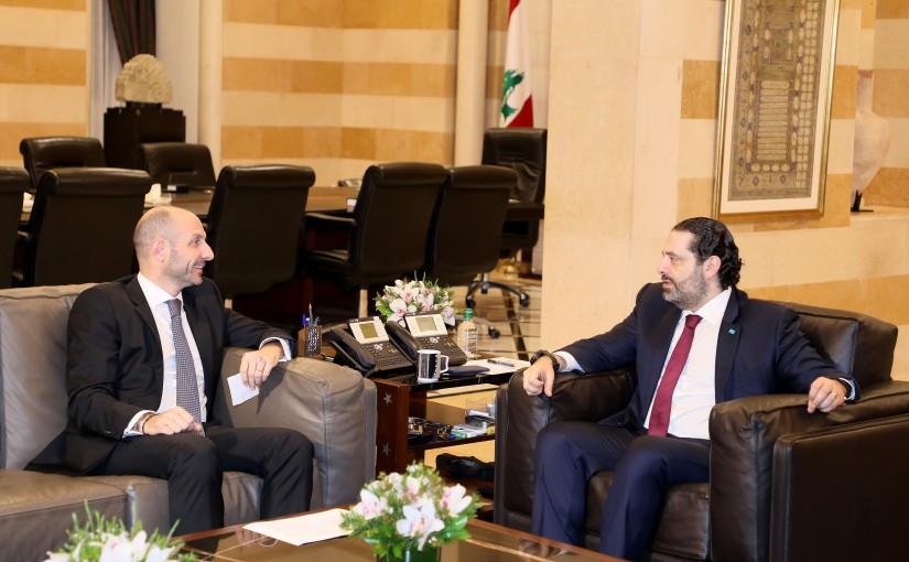Pr Minister Saad Hariri meets Minister Selim Jraysati